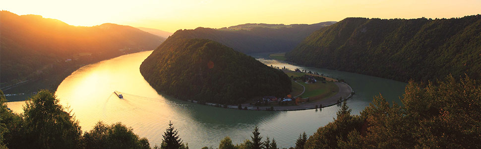 sunset on the rhine river