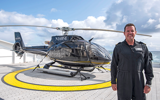 Scenic Eclipse helicopter pilot Justin Watlington
