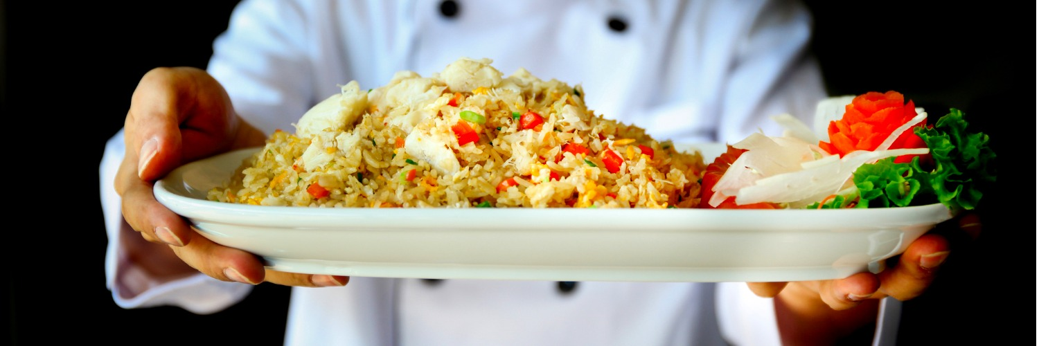 fried rice prepared by chef